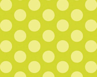 Fat Quarter This 'N That - Gum Drops in Lime Green - Cotton Quilt Fabric - Designed by Nancy Halvorsen for Benartex (W1661)