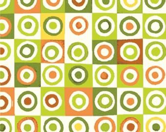 Fat Quarter Mischief  - Blocks in Green - Little Boy Fabric Line Designed by Nancy Halvorsen for Benartex (W889)