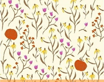 One Yard Far Far Away - Clover in Orange - Cotton Quilt Fabric - Heather Ross for Windham Fabrics - 39659-7 (W2028)