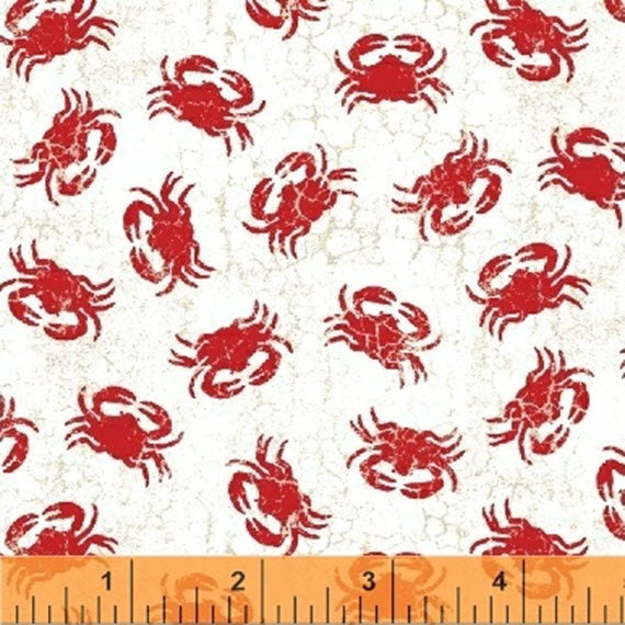 Shoreline Quilt Fabric Crabs Style 50114//2 Red