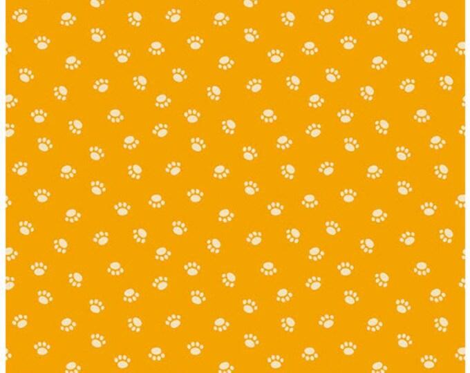 Rover - Puppy Paws in Orange -  Adorable Dog Paw Cotton Quilt Fabric - C5213-ORANGE - Bella Blvd for Riley Blake Designs Fabrics (W4303)