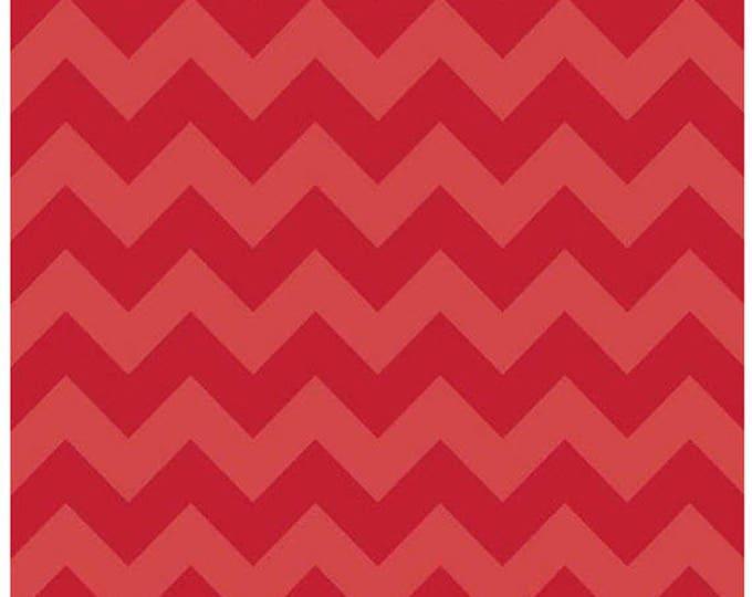 Medium Chevron - Tone on Tone in Red - Tonal Cotton Quilt Chevrons Fabric - C380-81 - Riley Blake Designs Fabrics (W4300)