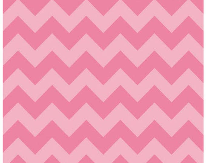 Medium Chevron - Tone on Tone in Hot Pink - Tonal Cotton Quilt Chevrons Fabric - C380-71 - Riley Blake Designs Fabrics (W4299)