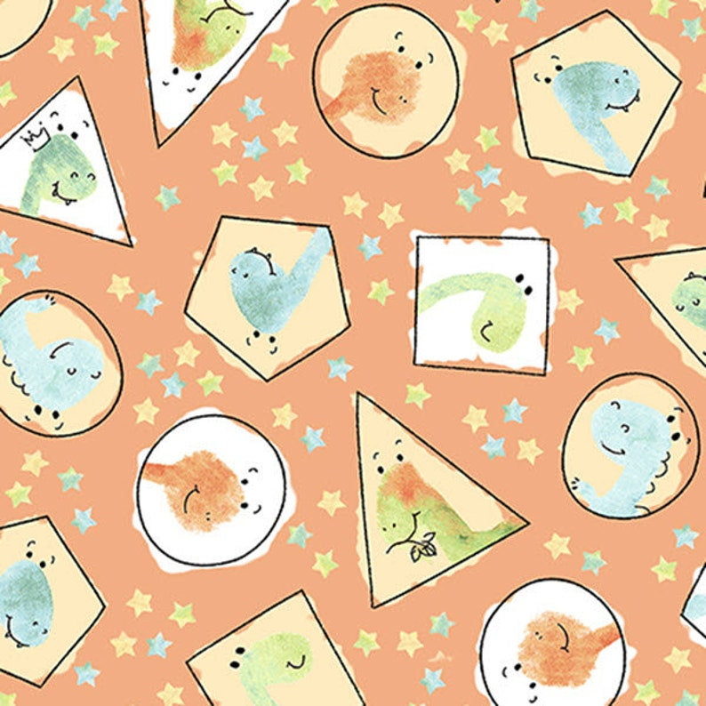 Quilting Treasures Heads Up Dotted Lines 100/% cotton fabric by the yard