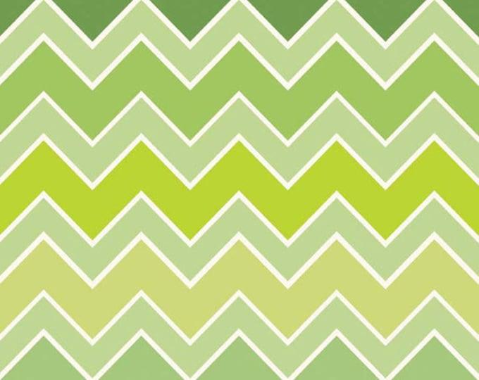 Shaded Chevron - Medium Chevron in Grasshopper Green - Cotton Quilt Fabric - C780-07 - Riley Blake Designs Fabrics (W2502)