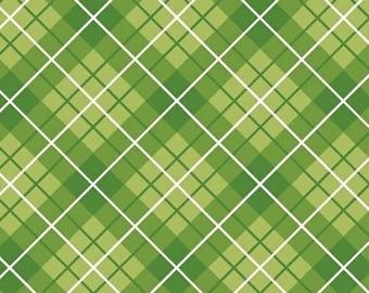 Half Yard Hazel - Plaid in Green - Cotton Quilt Fabric - Allison Harris of Cluck Cluck Sew for Windham Fabrics - 40843-8 (W3425)