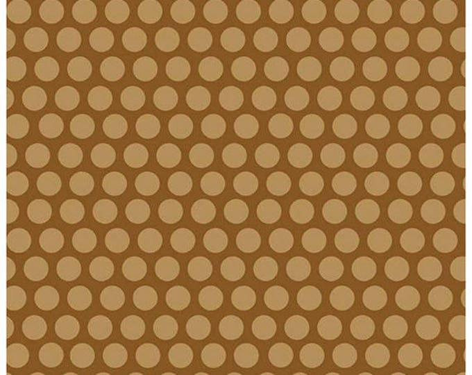 Rover - Dots in Brown -  Tonal Polka Dot Cotton Quilt Fabric - C5214-BROWN - Bella Blvd for Riley Blake Designs Fabrics (W4304)