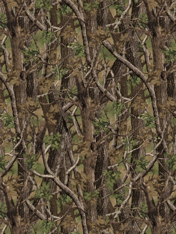 Norwegian Woods Camo In Green Brown Camouflage Cotton Etsy