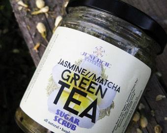 Sugar Scrub /// Jasmine Matcha Green Tea /// Organic Ingredients~ Great gift for sister, mother, co-worker, best friend, aunt, grandmother!