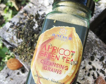 Cleansing  /// Apricot & Green Tea /// Organic skincare, exfoliating, combination skin, aromatherapy, spa facial