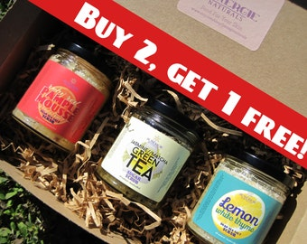 Sugar Scrubs SALE!!! Buy 2 , Get 1 free - Great gift for Sister, Mother, Best Friend, Boyfriend, Teacher, Co-worker, etc! Organic Skincare