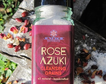 Cleansing Grains /// Rose Azuki /// Organic Skincare, detoxifying, trending, exfoliating, aromatherapy, sensitive skin, revitalizing