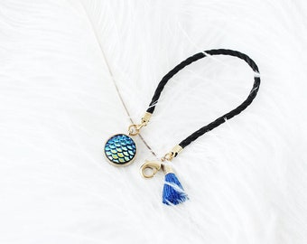 Little Mermaid Camera Lens cap holder Keeper case bag strap handmade gift by cocowerk