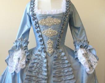 CUSTOM Rococo Rhinestone WEDDING or MASQUERADE gown