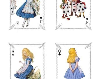 Alice in Wonderland Playing Cards  Digital Downloads