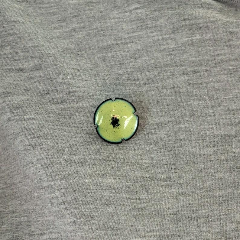 Cute Lime Green Enamel Pin Contemporary Poppy Brooch Pin