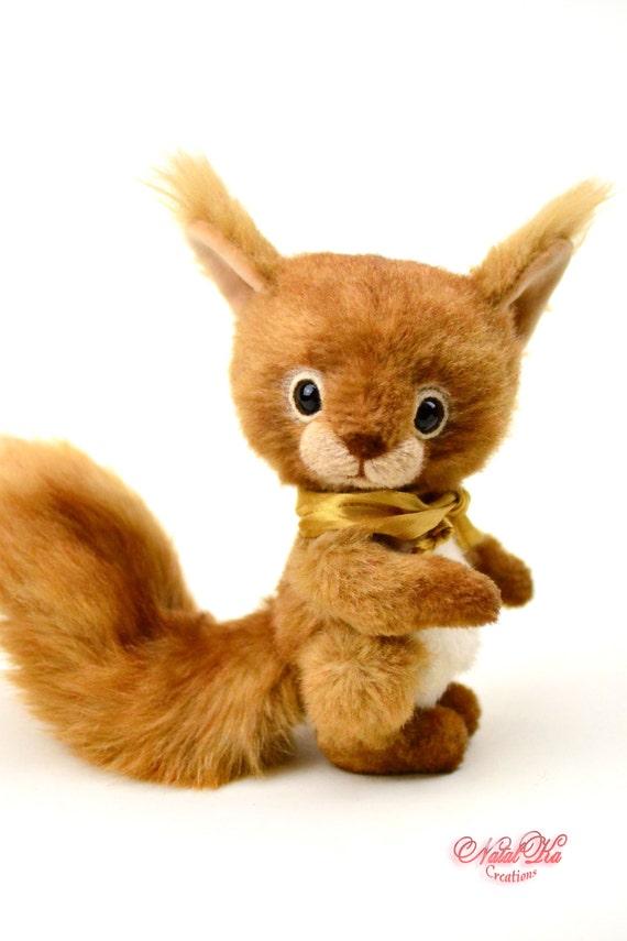Eichhörnchen Rani 155 cm Künstlerteddy Teddy Künstlerbär | Etsy