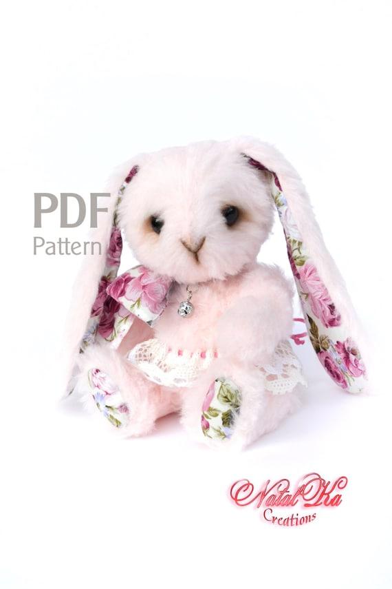 Schnittmuster Teddy Hase Kaninchen Rosa 21 cm Digitaler | Etsy