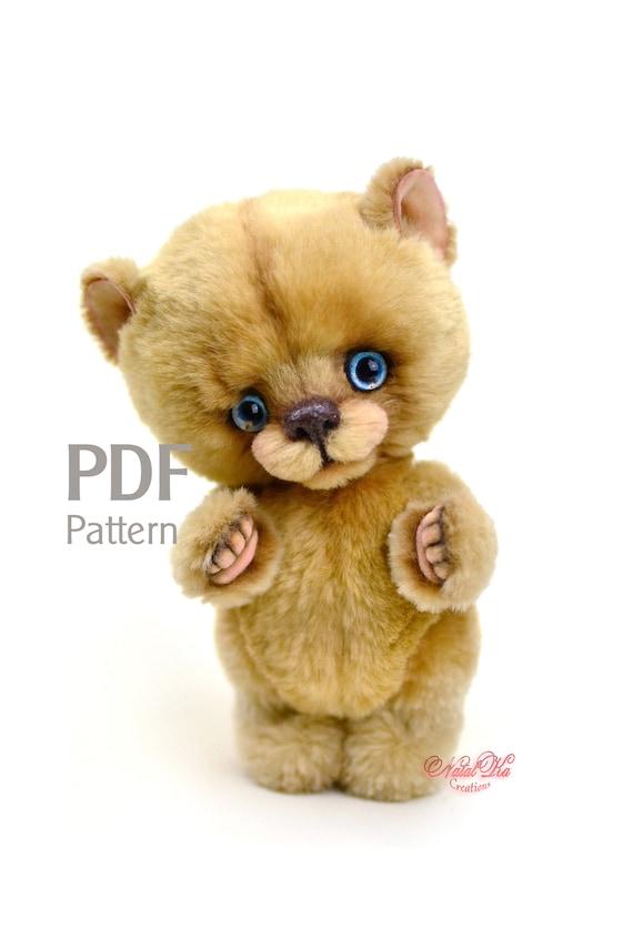 Schnittmuster Teddybär Bum digitaler Schnittmuster | Etsy