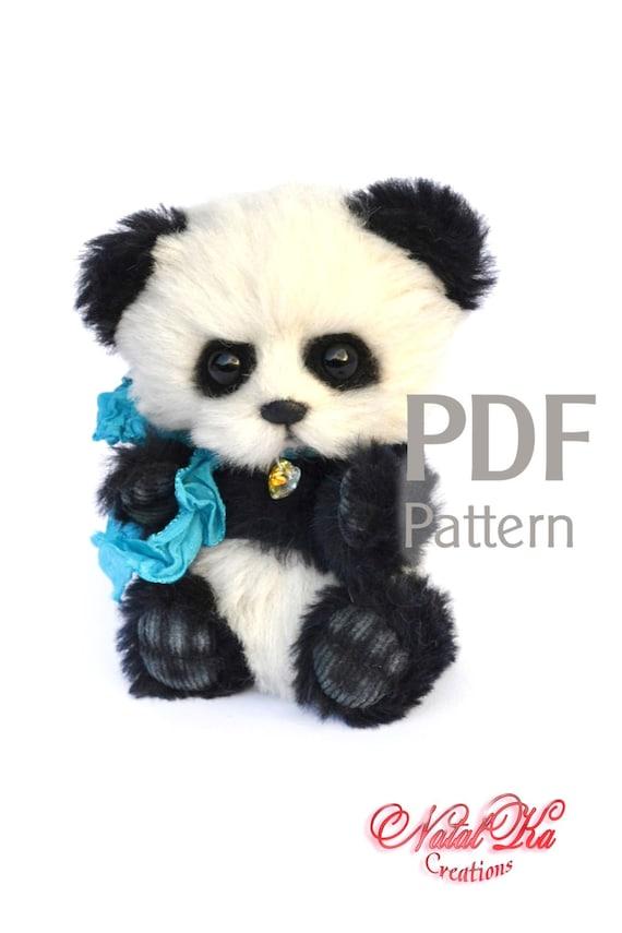 PDF Schnittmuster Teddy Panda Bu 145 cm digitaler   Etsy
