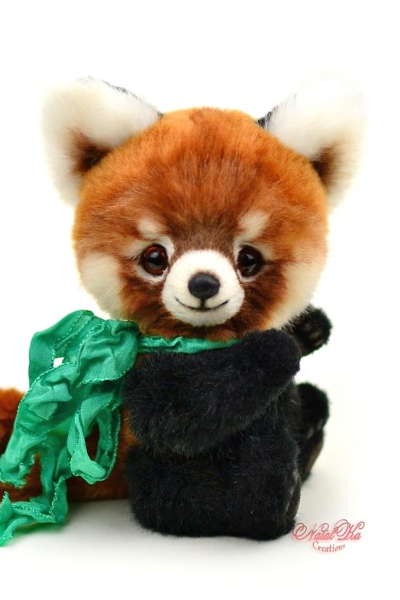 Roter Panda Gino Teddy Künstlerbär Unikat Geschenk | Etsy