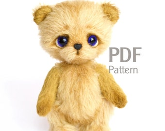 Teddy bear sewing pattern, Teddy with charm, teddy bear pattern, artist bear, ePattern, Instant Download, sewing pattern artist teddy bear
