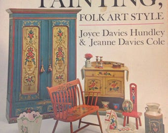 Folk Art Style Painting Furniture Book Home Decor Gifts Vintage Style Crafts
