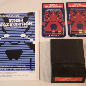 Manual /& 2 Overlays Only** for *Intellivision Skiing Winter Sport **Cart Sears Super Video Arcade Tandyvision One 1979 Mattel Tested