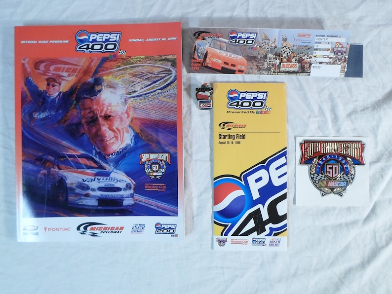 Lot Pepsi 400 August 1998 Prog...