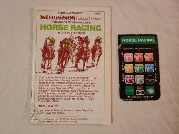 Courses hippiques Intellivision ** manuel & 1 superposition seulement ** pour Intellivision, Sears Super Arcade vidéo Tandyvision un sport Mattel 1980 beaucoup