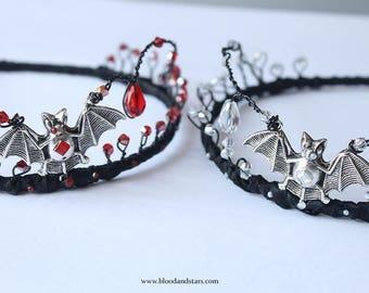 Gothic Vampire Princess Bat Tiara