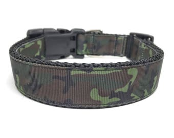 Camo Dog Collar Adjustable