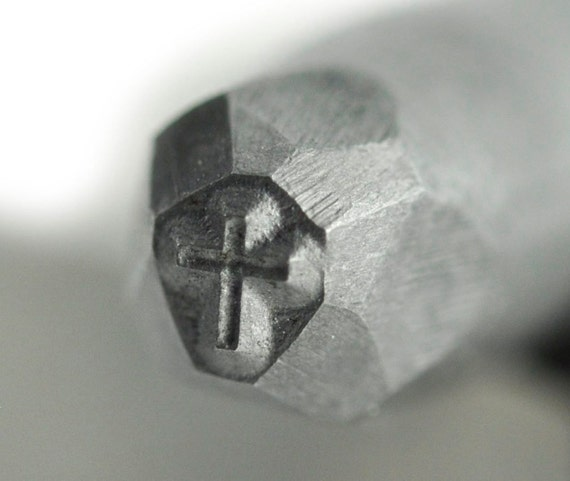 Cross Steel Stamp 1/8