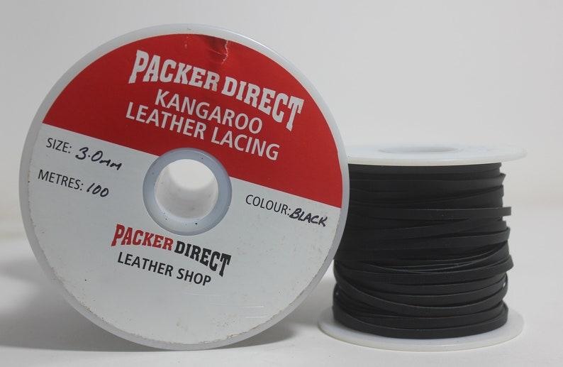 kangaroo lacing Kangaroo leather 3mmX 25 Meters buckstitch lace Kangaroo Leather lace
