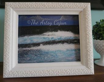 "Fine Art Print of Hawaiian Seascape 2 Acrylic Painting,  8.5x11"""