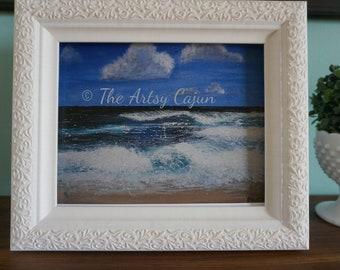 "Fine Art Print of Hawaiian Seascape 4 Acrylic Painting,  8.5x11"""