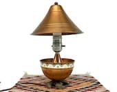 Vintage Copper Lamp, Hammered Copper Lamp, Vintage Southwestern Lamp, Mid Century Lamp, Mid Century Modern, Southwestern Decor