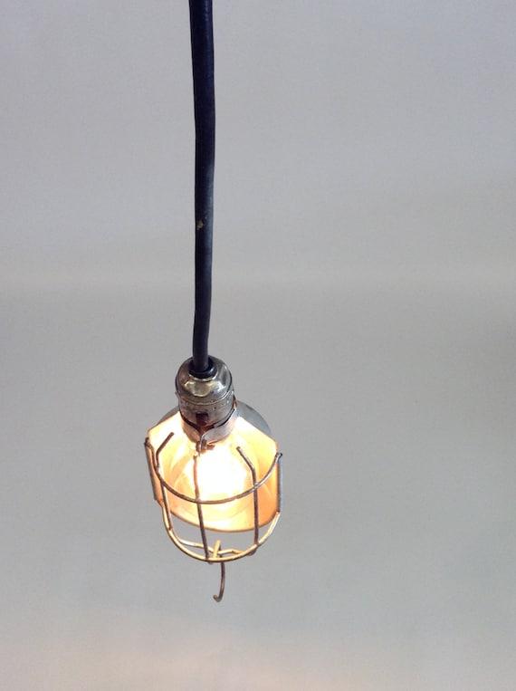 Pendant Lamp Steampunk Lighting Industrial Cage Light Man Cave Lighting Lenk Solder Iron Cage Light Vintage Cage Light