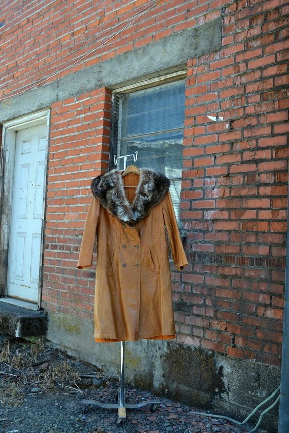 Vintage Leather and Fur Coat, Leather and Fur Jack
