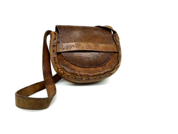 Vintage Boho Purse,  Leather Purse, Boho Leather P