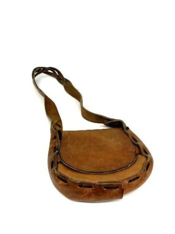 Vintage Leather Purse, Boho Purse, Boho Leather Pu