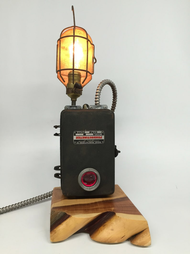 Trouble Cage Lamp Industrial Lighting Durant Mfg. Reclaimed Desk Lamp Industrial Desk Lamp Steampunk Lamp Unique Gifts Reclaimed Lamp