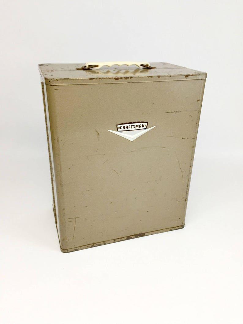 Garage Storage Machinist Tool Box Tool Chest Metal Toolbox Antique Toolbox Craftsman Tool Box Vintage Toolbox Man Cave
