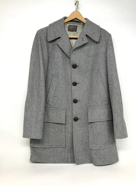 Vintage Pendleton Coat, Wool Jacket, Pendleton Gre