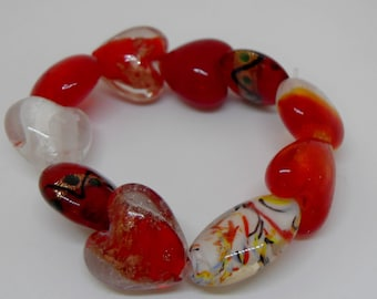Beautiful Red Chunky Bracelet