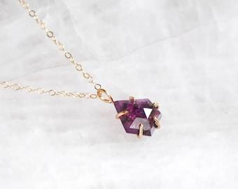 Purple Fancy Cut Sapphire Necklace