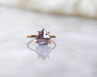 Blue-Purple Fancy Rose Cut Sapphire Ring