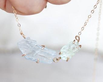 Aquamarine + Blue Barite Necklace