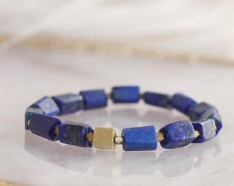 Raw Lapis Lazuli Stretch Bracelet