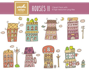 House Clipart Set